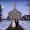 Tammy & Glenn departing St. Patrick's Church in Kanata, Ontario (near Ottawa)