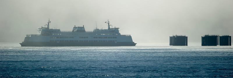 """Ferry """"Kitsap"""" approaches  the Anacortes terminal"""