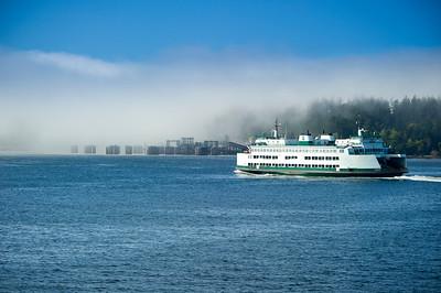 """Ferry """"Kitsap"""" near the Anacortes terminal"""