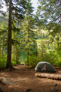 My tent site on the eastern side of Annette Lake