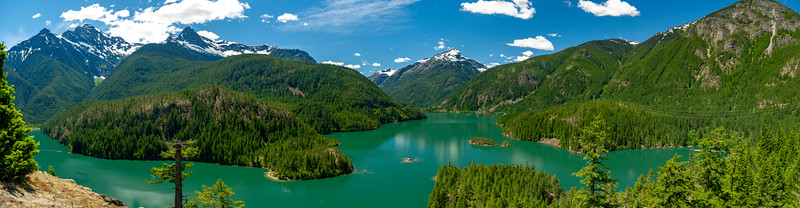 Panorama of viewpoint along the North Cascades Hwy