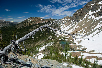 Lake Ann from 6600' A rock slide has nearly filled Lake Ann