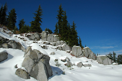 Rock formation below summit trail