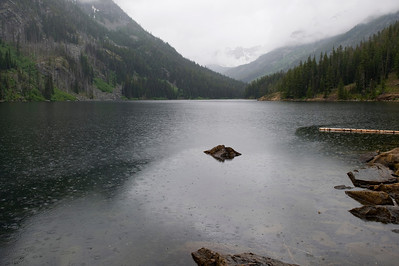 Rain on Eightmile Lake
