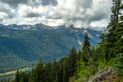 Mt. Daniel in clouds