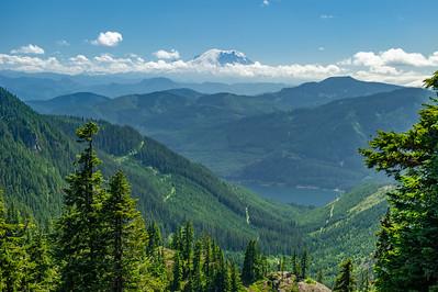 Lake Keechelus and Mt Rainier