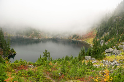Lake Lillian with fall colors