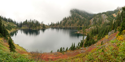 Above Lake Lillian, from the steep trail to Rampart Ridge