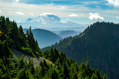 Mt. Rainier from partway up the Silver Peak trail