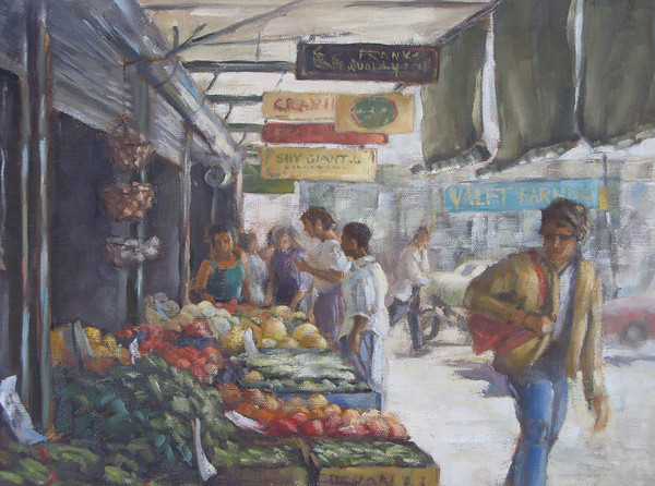 "Farmer's Market, Seattle, Wa<br /> 11""x14"""