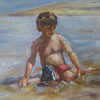 "Theo At The Beach<br /> 5""X7"""