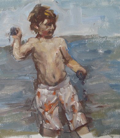 "Dashiell Throwing Mud<br /> 5""X7"""