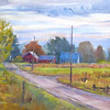 "Way To The Vineyard<br /> 8""x16"""