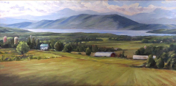 "View From Mount Philo<br /> 15""X30"""