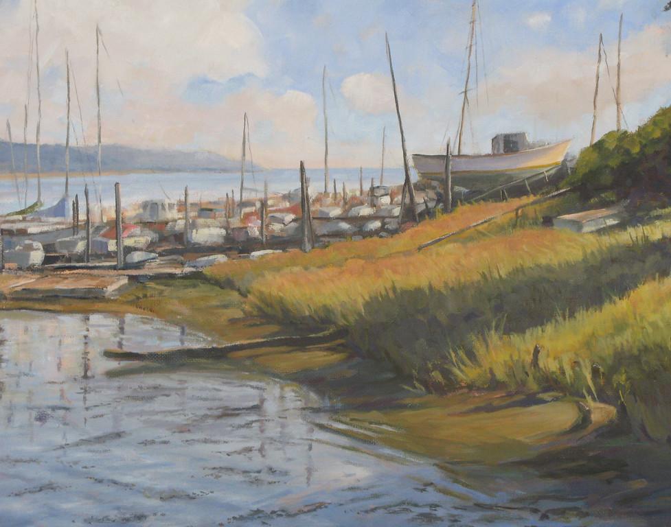 "Riverside Harbor<br />       9""x12"""