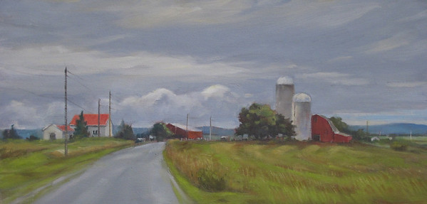 """Cloudy Weather<br />        12""""x24"""""""