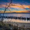 Peaceful Sunset at Sandy Hook