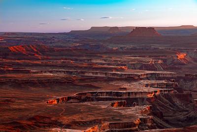 Sunset detail; Green River Overlook, Canyonlands National Park