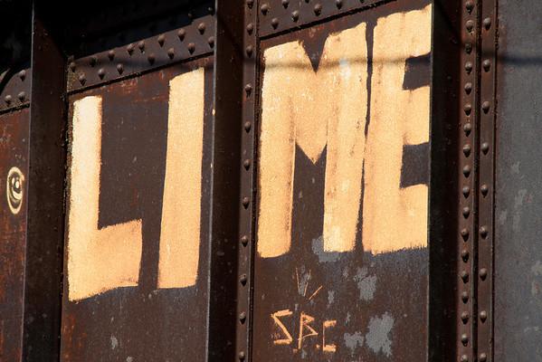 Graffiti on railroad bridge, towpath, Bethlehem PA