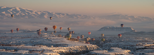 Cappadocia in winter, Uchisar and surrounds