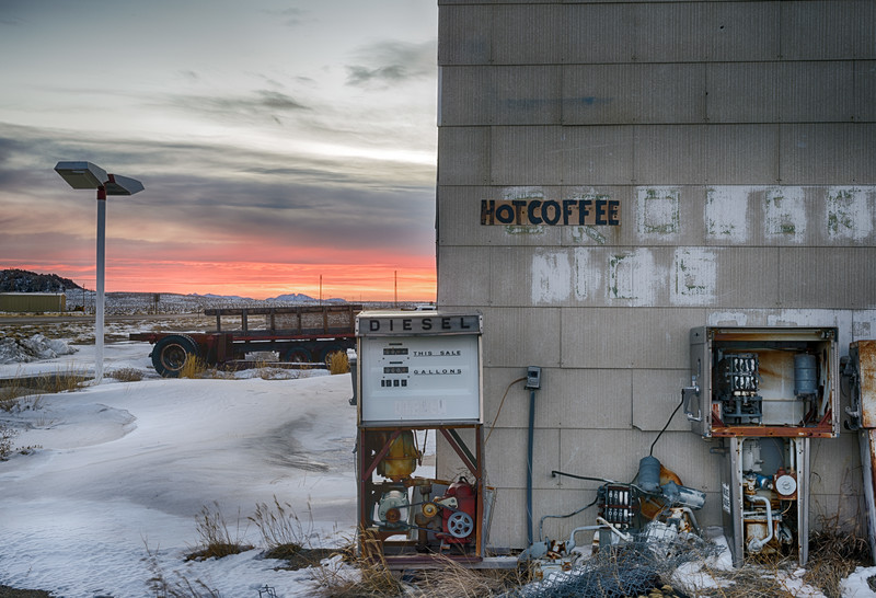 Hot Coffee, Jeffrey City, Fremont County, WY 2014<br /> HDR image<br /> © Edward D Sherline