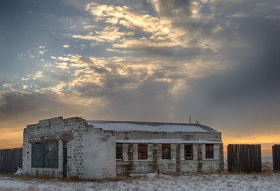 Gas Station, Egmont, Laramie County, WY 2012 HDR image © Edward D Sherline