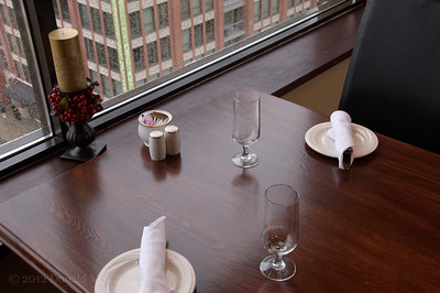 Restaurant table, Westminster Club, New Westminster, BC