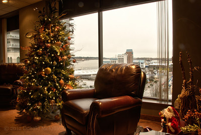 Main lobby, Christmas, Westminster Club, New Westminster, BC