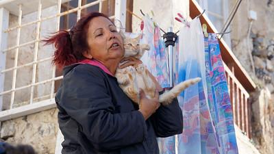 Cat lady in Pyrgos