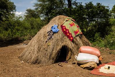 Hut of Mursi Tribe
