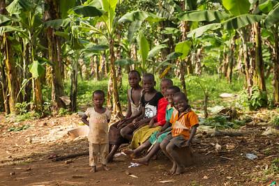 Kids on Banana Plantation