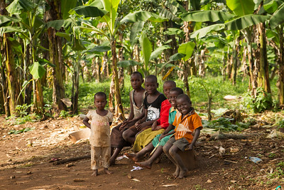 Kids on Banana Plantation