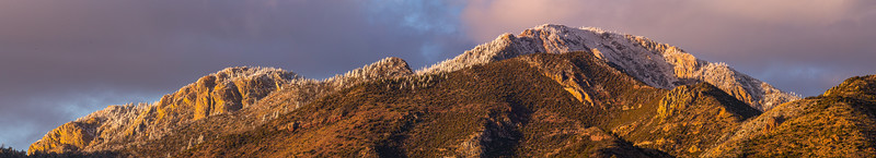 Snow-capped Huachuca Mountains panorama, Cochise County, Arizona