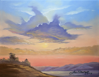 Clouds Oils 2-8-12 / Canvas This is a workshop painting from William Powell's website. Lots of good art tutorials and videos there!