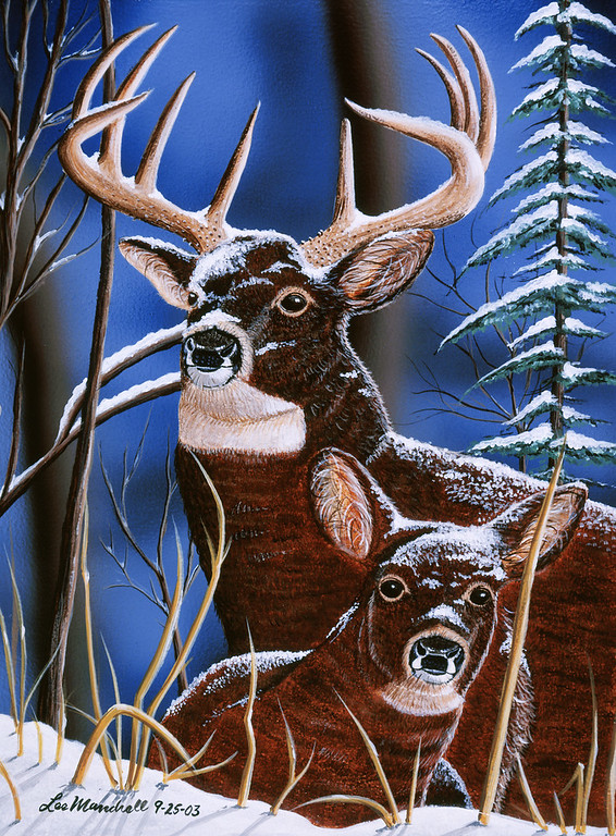 King of the Woods<br /> Acrylic - Airbrush - Masonite