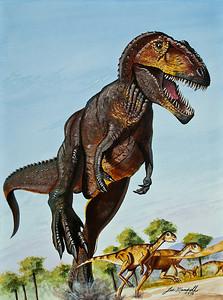 Gigantosaur Watercolor - Acrylic - Illustration Board