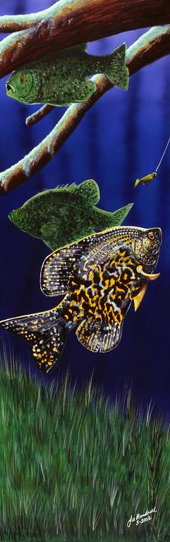Paddle Tail Acrylic - Airbrush - Canvas