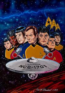 Classic Star Trek Acrylics - Airbrush - Canvas