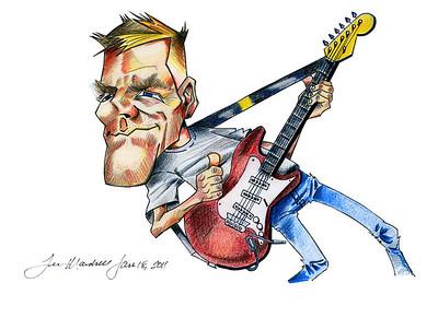 Bryan Adams Caricature Colored Pencils - Paper