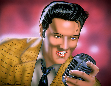 Elvis Acrylic - Airbrush - Illustration Board