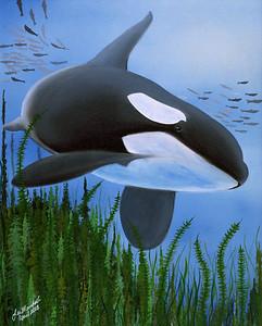Orca Oil - Acrylic - Markers