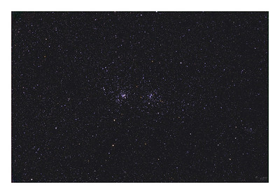 The Double Cluster - NGC 884 and NGC 869 - Wide Field