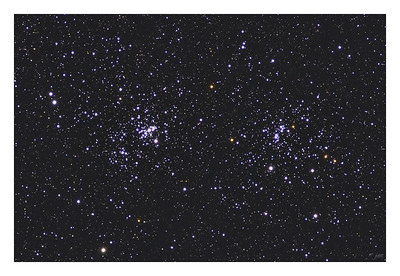 The Double Cluster - NGC 884 and NGC 869 100% Crop