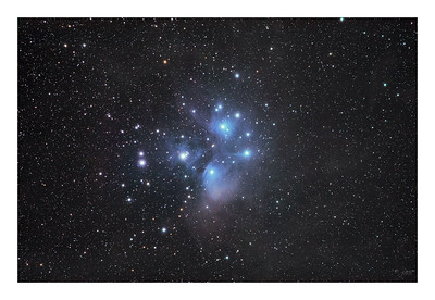 The Pleiades - M45 - Wide Field