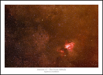 The Swan Nebula - M17 in Sagittarius - Wide Field View
