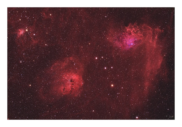 The Flaming Star Nebula IC 405 - Wide Field