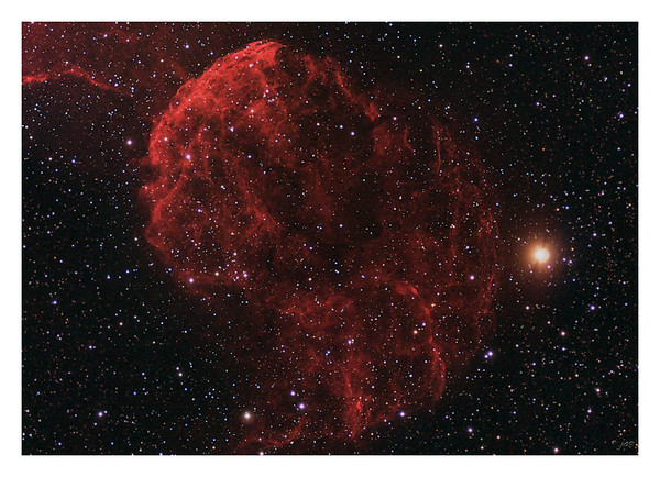 The Jellyfish - IC443 - Supernova Remnant 100% Crop