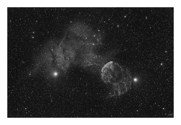 The Jellyfish - IC443 - Supernova Remnant Wide Field - H-alpha