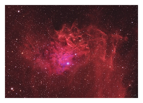 The Flaming Star Nebula - IC405 100% Crop