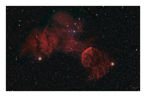 The Jellyfish - IC443 - Supernova Remnant Wide Field
